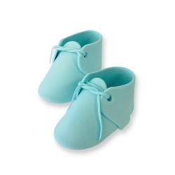 Baby Bootee, blå tårtdekoration