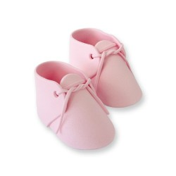 Baby Bootee, rosa tårtdekoration