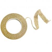 Floristtejp, guld med guld glitter (metallic)