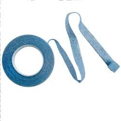 Floristtejp, ljusblå med silver glitter (metallic)
