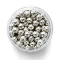 BF 20190825 - Metallic Silver (6 mm), sockerpärlor