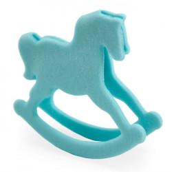 Gunghäst, blå tårtdekoration