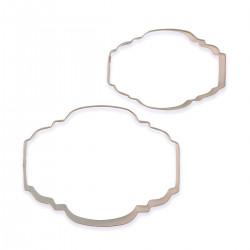 Ram / Plakett, 2 st utstickare (SC622)