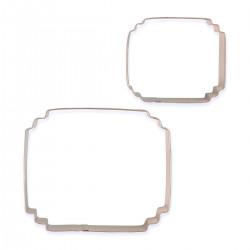 Ram / Plakett, 2 st utstickare (SC625)