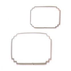 Ram / Plakett, 2 st utstickare (SC627)