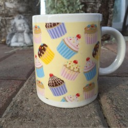Cupcakes, mugg (gul)