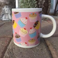 Cupcakes, mugg (rosa)