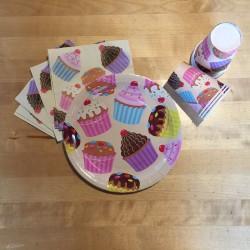 Cupcake Fun, dukning för 8 personer