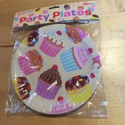 Cupcake Fun, 10 st tallrikar