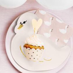 Guldstjärnor, 6 st cupcake wraps