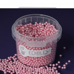 Candy Pink (4 mm), sockerpärlor