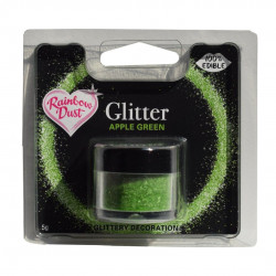 Grön, ätbart glitter (Apple Green)