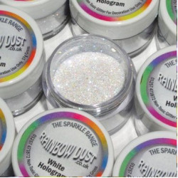 White Hologram, dekorationsglitter
