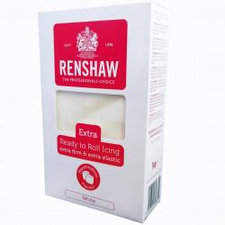 Vit sockerpasta Pro Extra m marshmallowsmak (MMF), 1 kg  (RR)