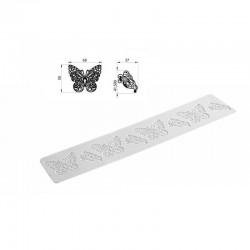 Butterfly, spetsmönstermatta i silikon (SM)