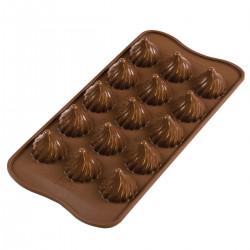 Droppar, chokladform (silikon)