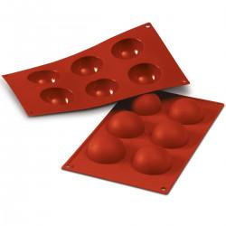 Halvklot, bakform i silikon (6 cm)