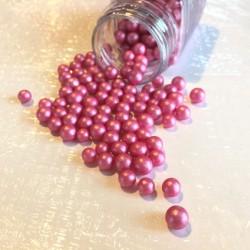 Pearly Dark Pink, strösselkulor 6-7 mm