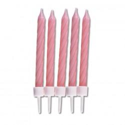 Födelsedagsljus, 10 st rosa