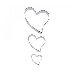 Curvy Hearts (3 st), kakutstickare