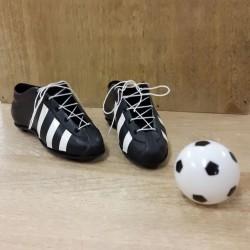Fotbollsskor o boll, tårtdekoration (3 delar)