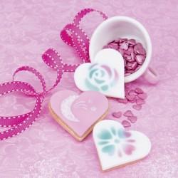 True Heart, utstickare och schabloner