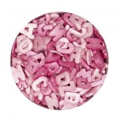Bokstäver, rosa strössel (AZO-fri)