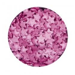 Dark Pink Stars, strössel (AZO-fri)