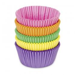 100 st muffinsformar - små, blandade färger