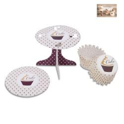 Cake Dots, muffinsformar och cupcake-piedestaler