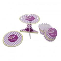 Lilac Sweets, muffinsformar och cupcake-piedestaler