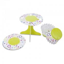 Circles In Colours, muffinsformar och cupcake-piedestaler
