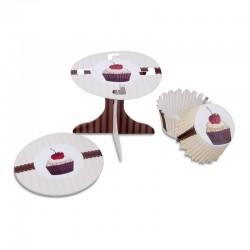 Cherry Cupcakes, muffinsformar och cupcake-piedestaler