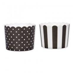 Muffinskoppar - Midi, 12 st (svart och vit)