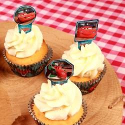 Blixten Mc Queen, 24 st muffinsflaggor