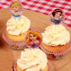 Disney Prinsessor, 24 st muffinsflaggor