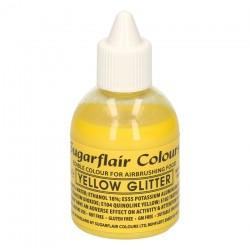 Gul, airbrushfärg (Yellow Glitter - SC)