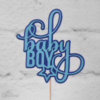 baby BOY, tårtdekoration (liten)
