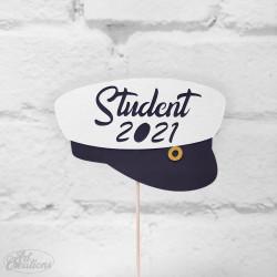 Dekoration till tårtan, Student 2021 (stor studenthatt)