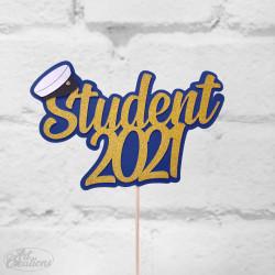 Dekoration till tårtan, Student 2021 (liten studenthatt)