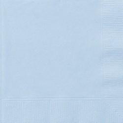 Babyblåa servetter, 20 st