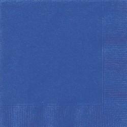 Blå servett, ca 25,4 cm (20 st)