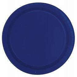 Blå tallrik, ca 17,1 cm (8st)