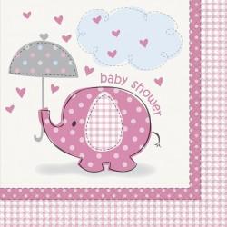 Umbrellaphant - Pink , 16 st servetter