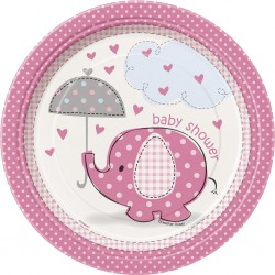 Umbrellaphant - Pink, 8 st tallrikar