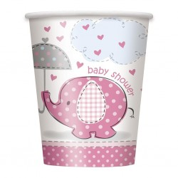 Umbrellaphant - Pink, 8 st muggar