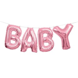 BABY, rosa folieballonger