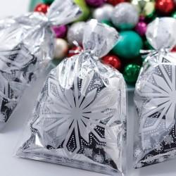 Silvery Snowflake, 8 st ge-bort-påsar