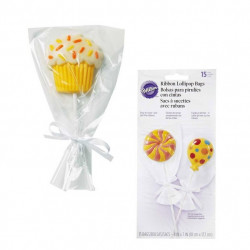 Ribbon Lollipop Bags, 15 st