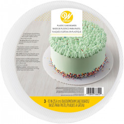 Tårtbricka i plast, 3 st (ca 25 cm)